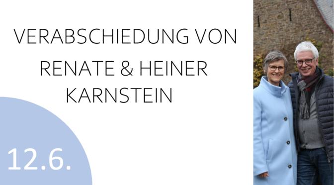 Verabschiedung von Renate & Heiner Karnstein